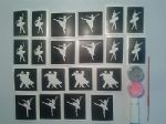 Dancer glitter tattoo set for girls   ballet  including 5 pots of colour +  glue   children   present   Fund Raising